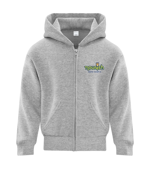 Picture of Nourish Full Zip Hooded Youth Sweatshirt (Colour Logo)